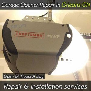 Garage door opener repair services in Orleans Ontario