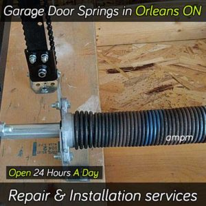 Garage door spring repair services in Orleans Ontario